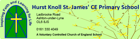 Hurst Knoll St James'  Primary School logo